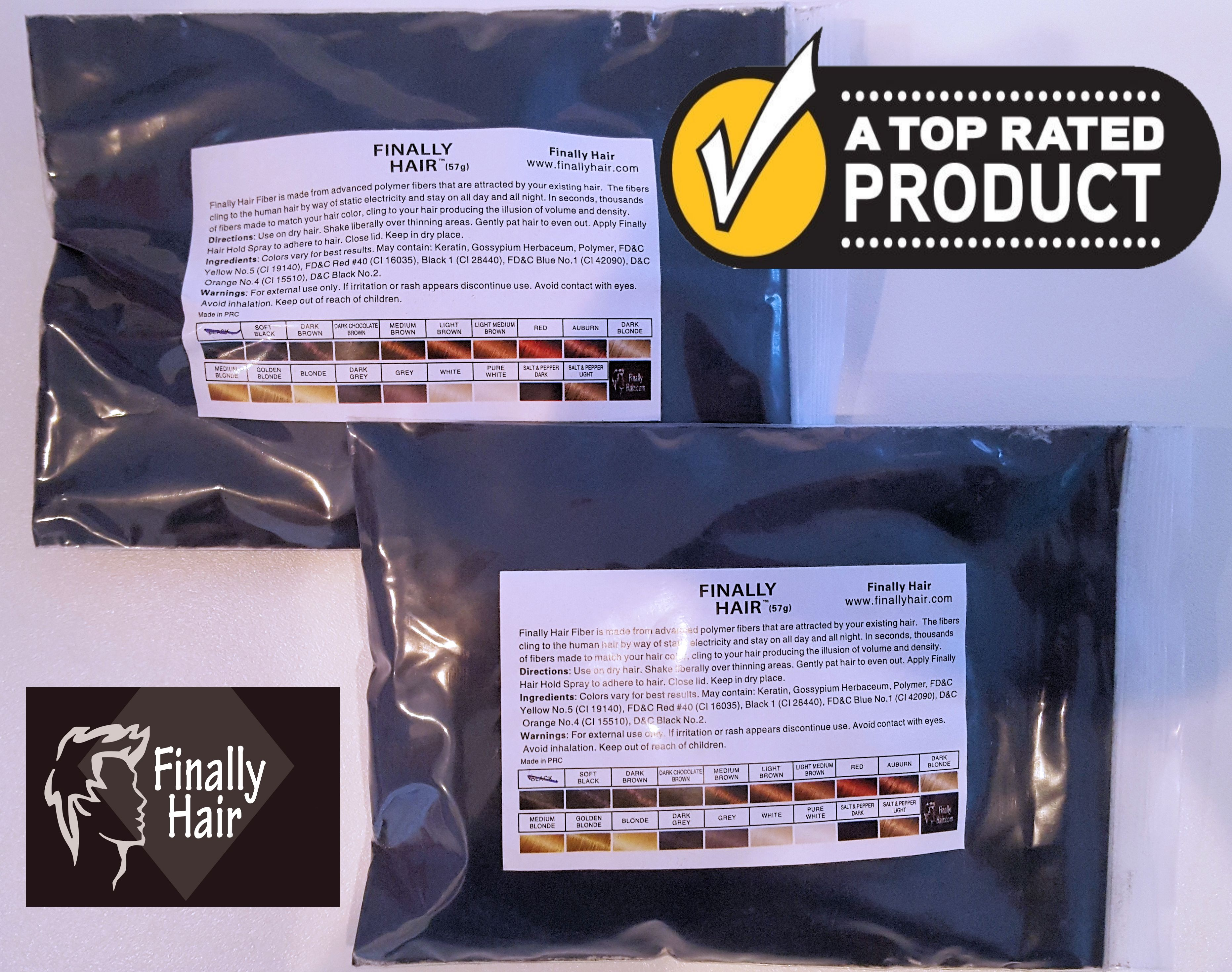 Refill Bag - 114 Gram 1/4 Pounder Hair Fiber (100g+14g)