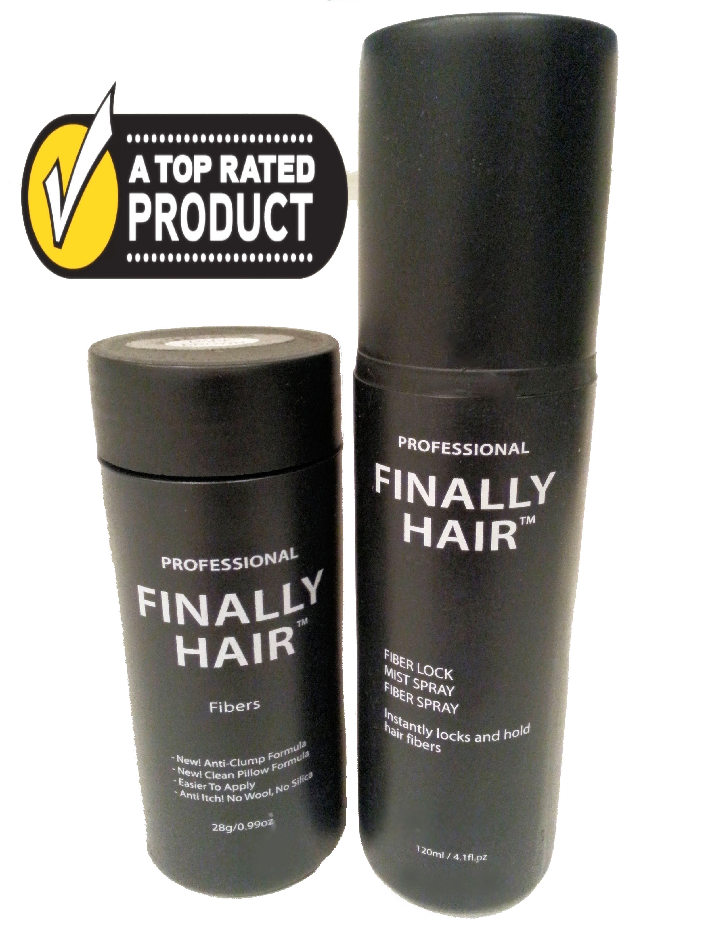 Hair Loss Concealer Kit - 28g Hair Fibers & Fiber Lock Spray