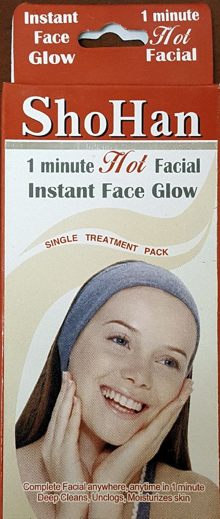 1 Minute Hot Facial Treatment - 3 Pack
