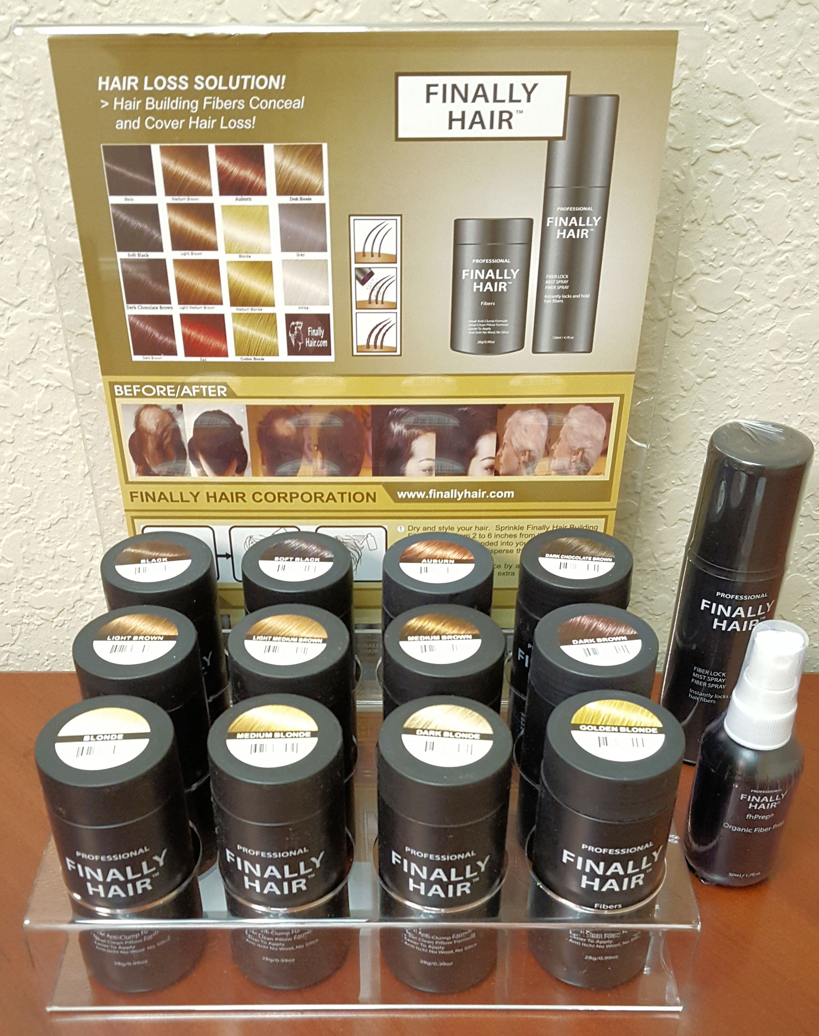 Hair Building Fiber Variety Pack with Display For Cosmetologists