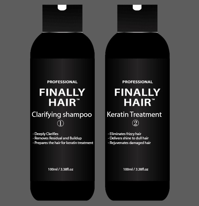 Professional Keratin Shampoo & Straightening Smoothing Treatment