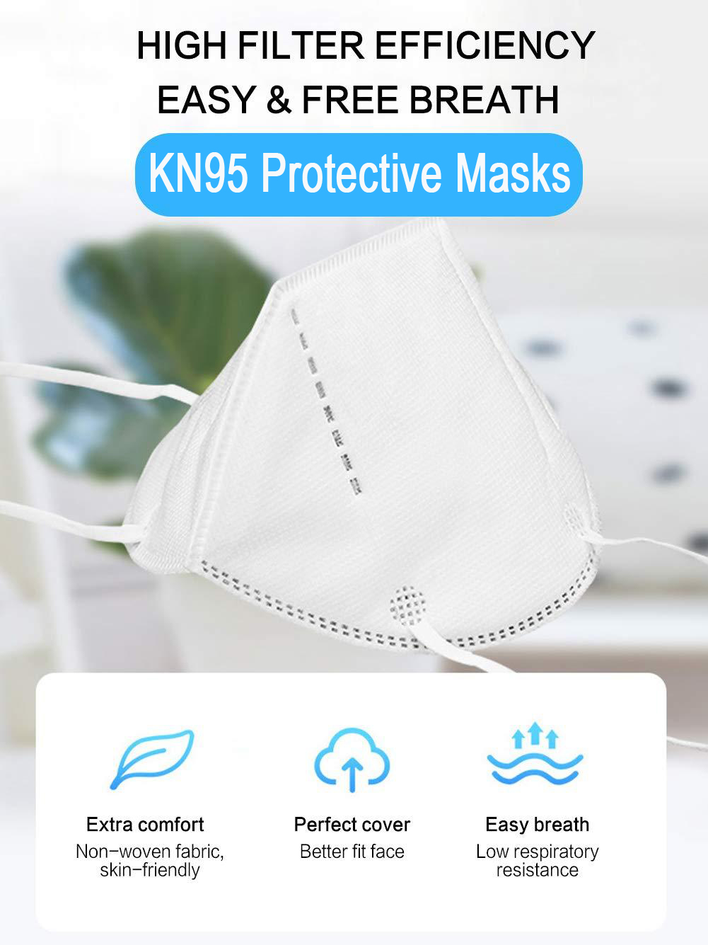 KN95 5-Layer Surgical Masks For Your Protection - 10 Pack