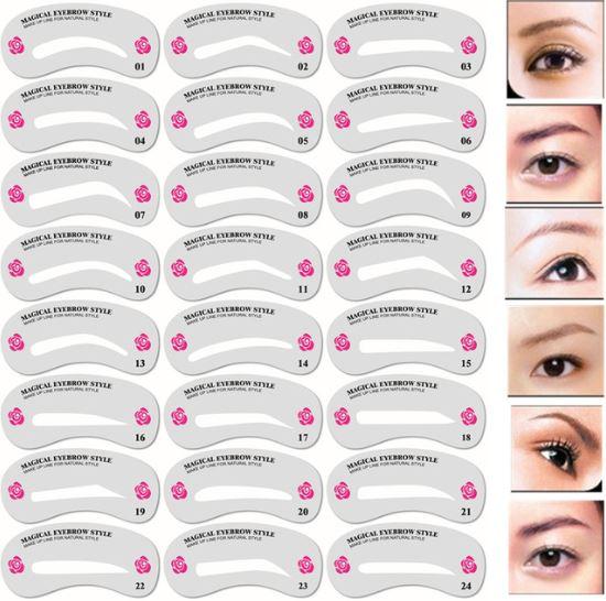 eye brow stencils